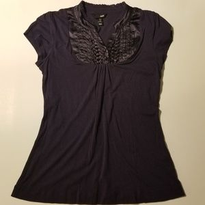 H & M Womens Shirt Top Size M Casual Career